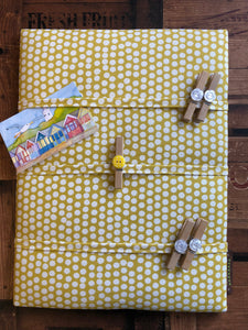 Fabric Notice Board, Yellow Spots - Butterfly Crafts