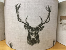 Load image into Gallery viewer, Drum lampshade - Pheasant, Stag, Hare and Woodland - Butterfly Crafts