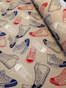 Fabric available by the metre - Atlas Beige, Aeroplanes, Sneakers, Comic by Marson - Butterfly Crafts