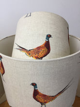 Load image into Gallery viewer, Drum Lampshade - Pheasant Fabric - Butterfly Crafts
