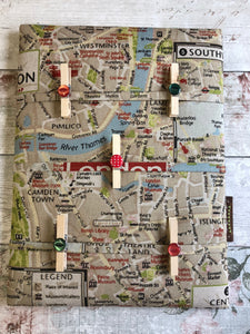 Fabric Notice Board - London - Butterfly Crafts