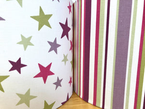 Drum Lampshade - Stripes and Stars - Butterfly Crafts