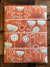 Load image into Gallery viewer, Fabric Notice Board, Orange Flowers - Butterfly Crafts