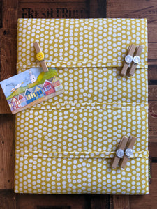 Fabric Notice Board - Yellow Spots - Butterfly Crafts
