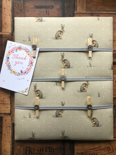 Fabric Notice Board, Hares - Butterfly Crafts