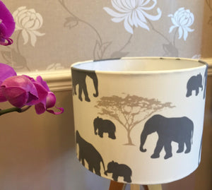 Drum Lampshade - Elephant - Butterfly Crafts