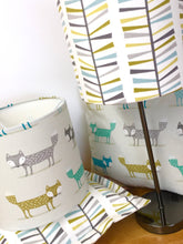 Load image into Gallery viewer, Drum Lampshade - Foxes - Butterfly Crafts