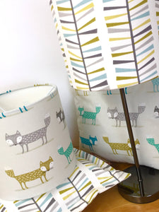 Drum Lampshade - Foxes - Butterfly Crafts