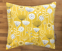 Load image into Gallery viewer, Fabric Cushion - 2 Sided Yellow Fabric - Butterfly Crafts