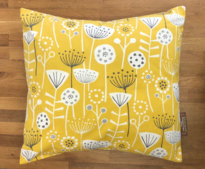 Fabric Cushion - 2 Sided Yellow Fabric - Butterfly Crafts