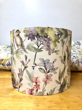 Load image into Gallery viewer, Drum Lampshade, Flowers - Butterfly Crafts