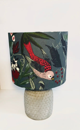 Drum Lampshade - Red Bird - Butterfly Crafts