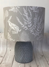 Load image into Gallery viewer, Drum lampshade - Country Hare Grey - Butterfly Crafts