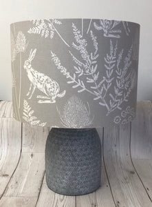 Drum lampshade - Country Hare Grey - Butterfly Crafts
