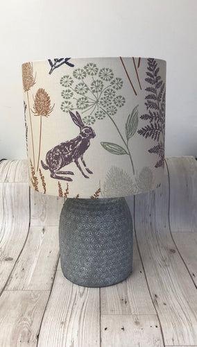 Drum lampshade - Country Hare Multi - Butterfly Crafts
