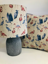 Load image into Gallery viewer, Drum lampshade - Stork and Flamingo - Butterfly Crafts