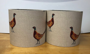 Drum Lampshade - Pheasant Fabric - Butterfly Crafts