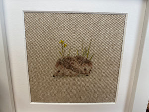 Fabric Picture Hedgehogs - Butterfly Crafts