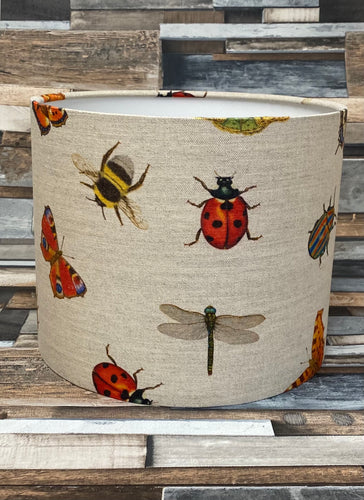 SALE - LAMPSHADE OR CEILING SHADE - LINEN BUGS - Butterfly Crafts