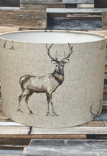 SALE - LAMPSHADE - STANDING STAG 30CMS - Butterfly Crafts