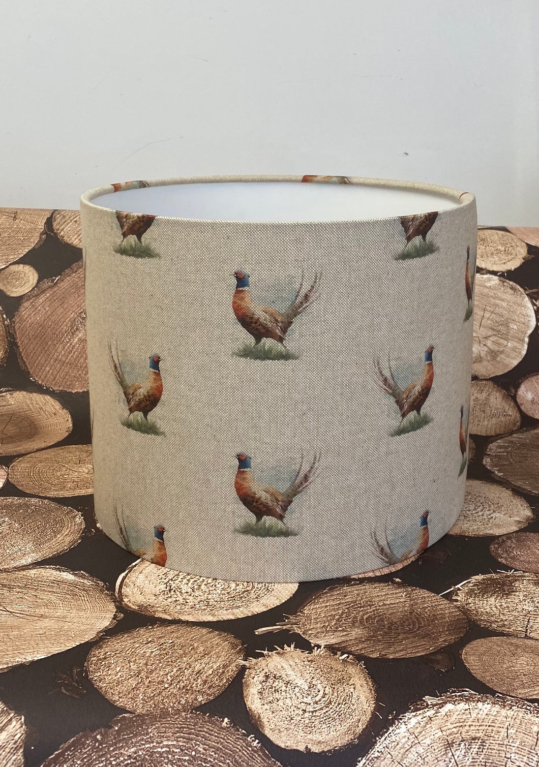 Drum lampshade - Country Pheasant - Butterfly Crafts