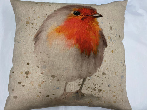 Fabric Cushion, Robin - Butterfly Crafts
