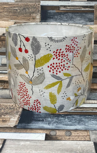 SALE - LAMPSHADE OR CEILING SHADE - GREY BERRY PATTERN 25CMS - Butterfly Crafts