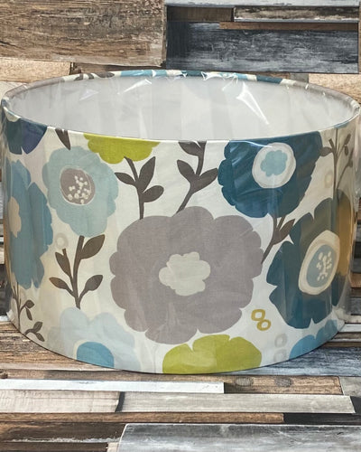 SALE LAMPSHADE OR CEILING SHADE -RETRO FLOWERS 35CMS - Butterfly Crafts