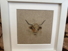 Load image into Gallery viewer, Fabric Picture Highland cow - Butterfly Crafts