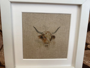 Fabric Picture Highland cow - Butterfly Crafts