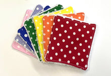 Load image into Gallery viewer, Rainbow Re-usable cotton wipes, 3 sizes available, FREE POSTAGE - Butterfly Crafts