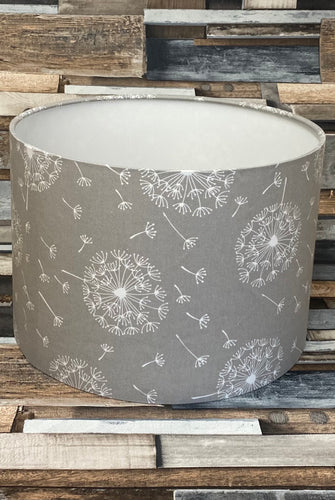 SALE - LAMPSHADE - GREY DANDELION 30CMS - Butterfly Crafts
