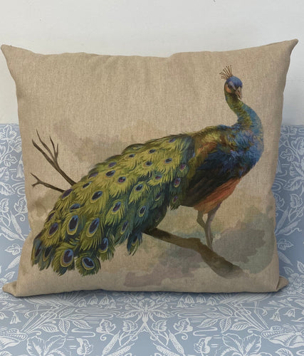 Fabric Cushion, Peacock - Butterfly Crafts