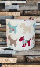 Load image into Gallery viewer, Drum Lampshade - Scotty Dog - Butterfly Crafts