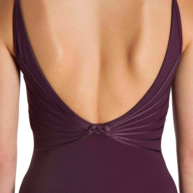 LM52001 – Mirella Moria V Knot Back Womens Leotard