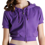JF5812 - Bloch Short Sleeve Womens Crop Hoodie