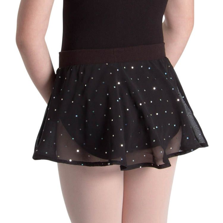 A55161G – Bloch Olesia Sequin Spotted Girls Skirt