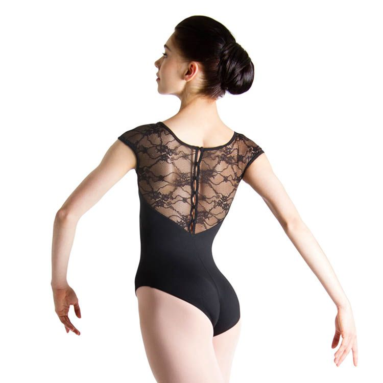 L56042 - Bloch Chiwa Womens Lace Button Leotard