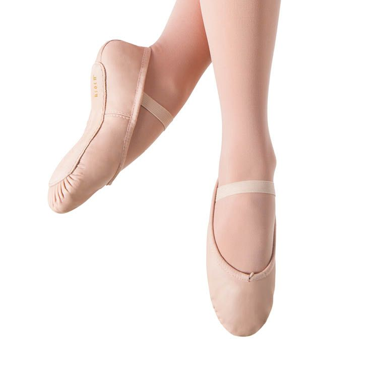 S0205G - Bloch Dansoft Leather Girls Ballet Flat