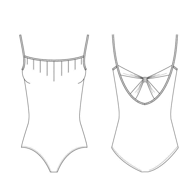 LM52050 – Mirella Miryia Diamante Loop Back Womens Leotard