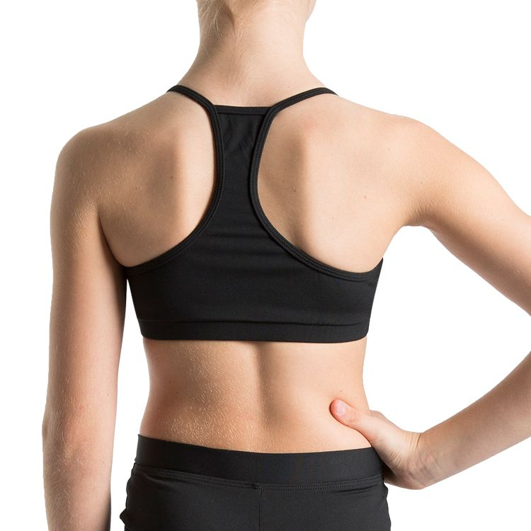 Z57287G – Bloch Bunga Gathered Racer Girls Crop Top
