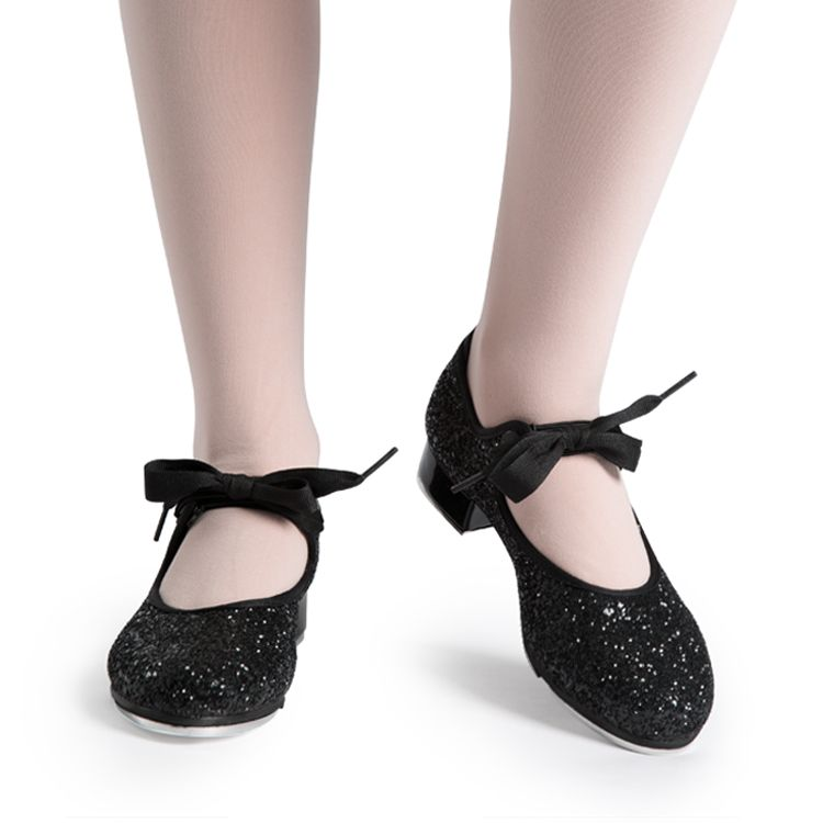 S0351G - Bloch Glitter Tie Girls Tap Shoe