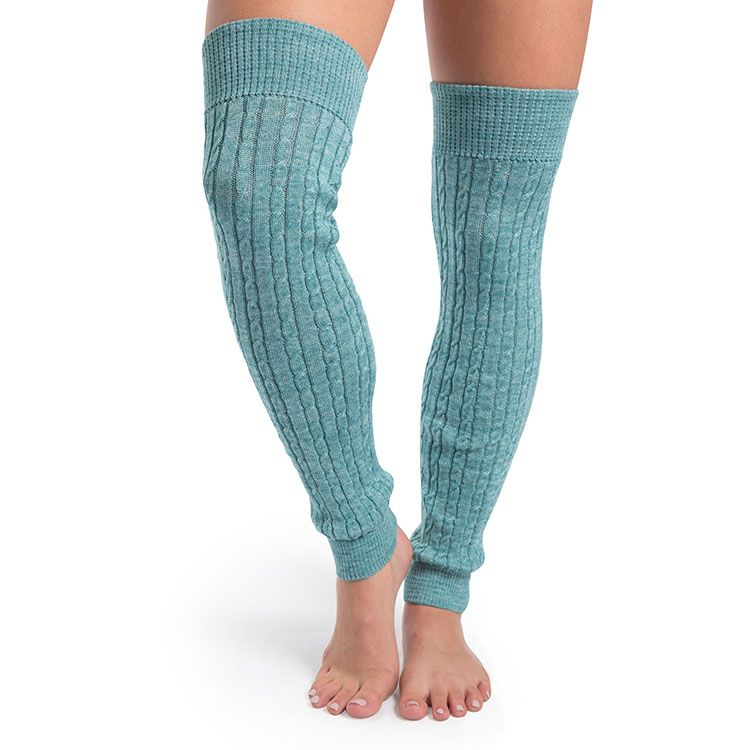 A0113 – Bloch Carezza Cable Knit Womens Long Legwarmers