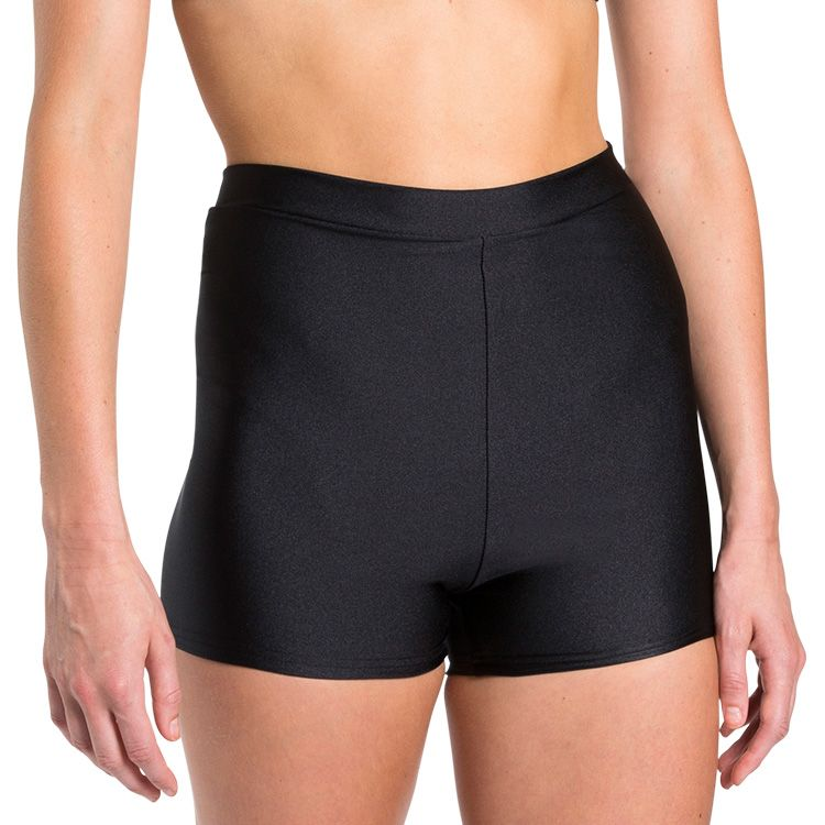 D3200 - Harper High Waist Womens Shiny Lycra Short
