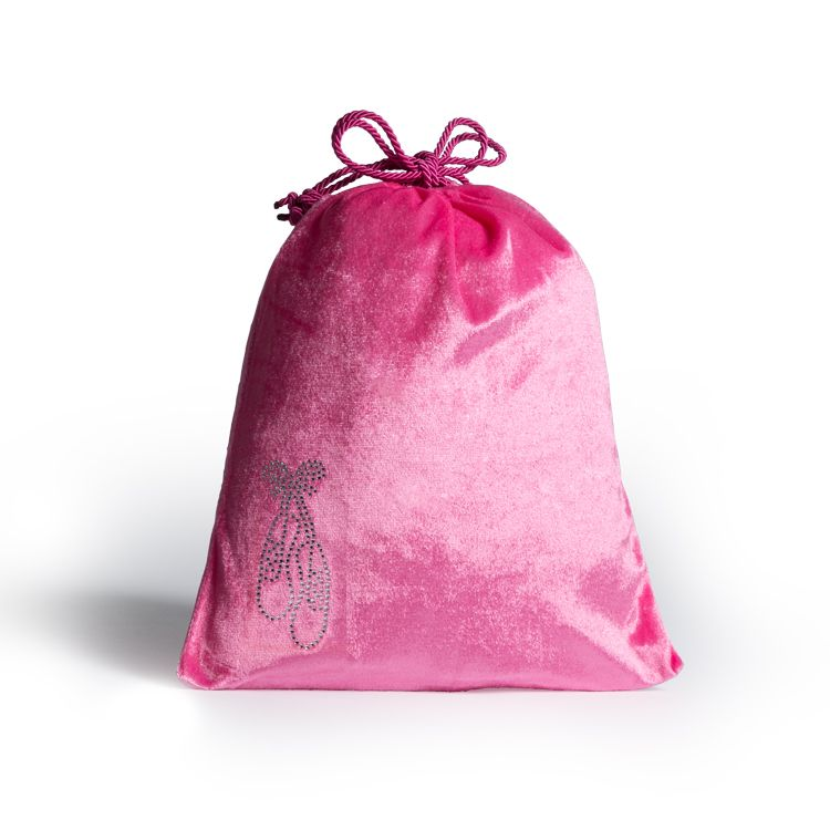 A6149 - Bloch Velvet Drawstring Shoe Bag