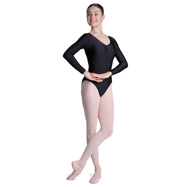L3259 – Bloch Lavina Gathered Long Sleeve Womens Leotard