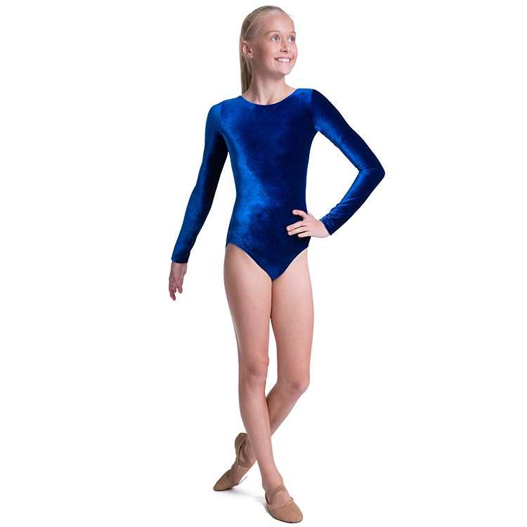 LL5114 – Leo Lamis Velvet Scoop Long Sleeve Girls Leotard