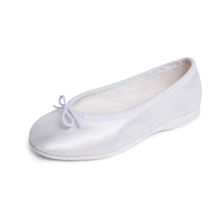 S0732G – Bloch Satin Bridal Full Sole Girls Ballet Flat