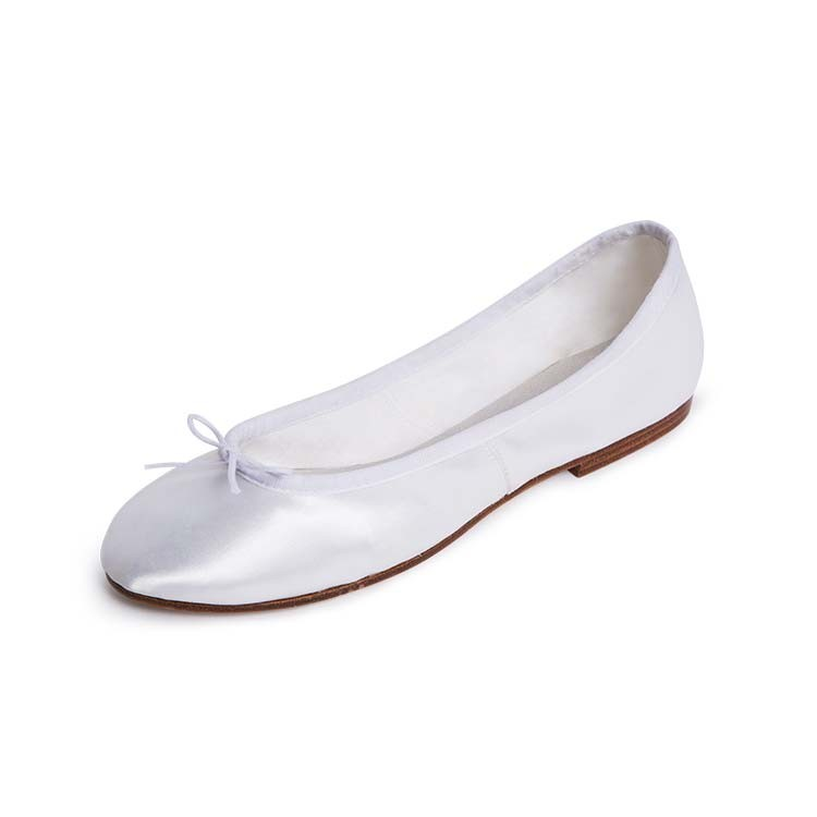 S0732L – Bloch Satin Bridal Full Sole Womens Ballet Flat