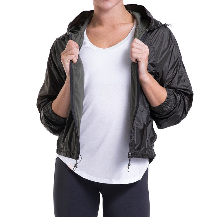 JST013 – Bloch Studio Luxe Zip Through Hooded Long Sleeve Jacket